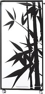 SIMMOB Armoire Informatique Mobile Noire 2 Tiroirs - Coloris - Bambous 912, Bois