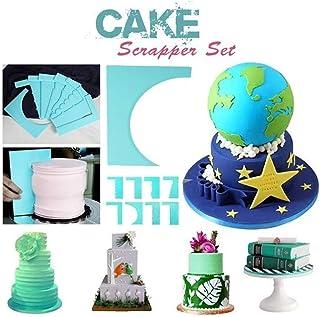 🍀Libobo🍀8PCS Style Cake Scrapers Fondant Cream Spatula Edge Smoother Baking Decorating Tool