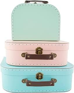 Set of 3 Retro Vintage Suitcases for Storage.