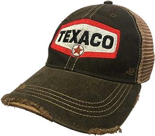 b8d9033e3a78b Texaco Gas Station Retro Brand Mesh Brown Adjustable Snapback Trucker Hat  Cap