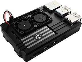 Corkea Raspberry Pi 4 Case with Dual Fan,Aluminum CNC Made Black