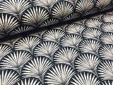 LushFabric Geometrischer Damaststoff mit Blumenmuster, Art
