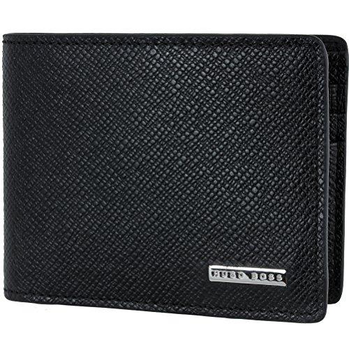 HUGO BOSS Herren Kartenetui kleine Geldbörse Brieftasche Portemonnaie in schwarz