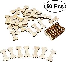Ideal als Verzierung 50 St/ück Streuteile Holz Fu/ßb/älle Holzdeko edelkern Streudeko Flache Fu/ßb/älle aus Holz mit 3D Effekt Dekoartikel DIY einseitig Bedruckt Tischdeko Bastelzubeh/ör