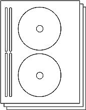 OfficeSmartLabels DISC CD DVD Labels with Spine Labels for Laser & Inkjet Printers, 2 per Sheet, White, Matte, 300 Labels, 150 Sheets