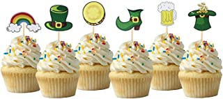 Saint Patricks Day Cupcake Topper Cardstock Cupcake Toppers Theme Party Decorations 12PC