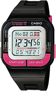 Casio Girls Runner Quartz Running Watch with Resin Strap, Black, 35.1 (Model