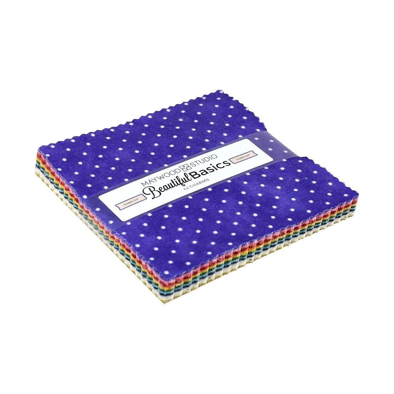 Beautiful Basics Classic Dot Charm Pack 42 5-inch Squares Maywood Studio