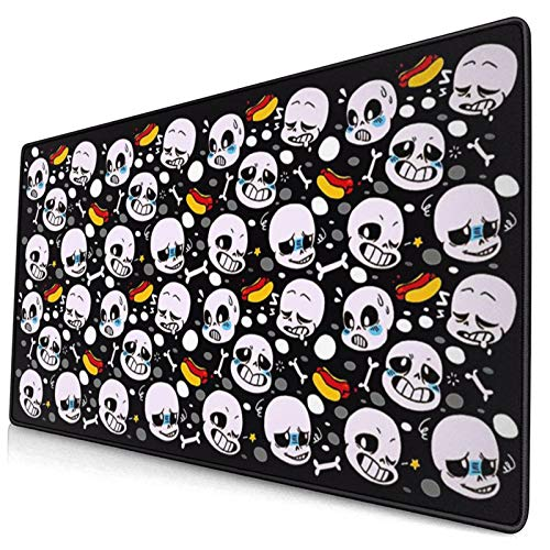 Undertale Custom Made Mouse Pad 15.8x29.5 Inch (40cmx75cm) Large Non-Slip Gaming Mouse Pad Rubber Stitched Edges Desk Mat for Office Home & Gamer