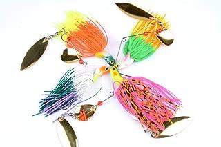 FREGITO Fishing Lures Spinner Kit, Fishing Hooks Bait for Freshwater and Saltwater 0.72oz, 4 Color