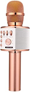 BONAOK Bluetooth Karaoke Wireless Microphone,3-in-1...