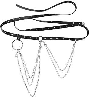 Punk Gürtel Ledergürtel Metallkette Hüftgurt Tanzen Gothic Taillengürtel Harness