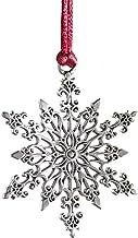 BAODAN Decorações de árvore de Natal, pingente de árvore de Natal, enfeite de árvore de Natal de metal prateado, decoraçõe...