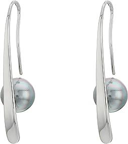 Silver Bar French Wire Earrings