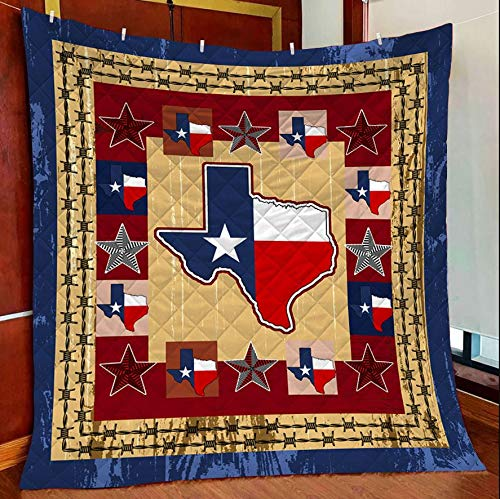Texas Our Texas Star Quilt Blanket Outdoor Picnic Beach Blanket Twin Throw Queen King Size Bed Quilts Best Decorative for Bed, Couch, Sofa, Chair, Swing, Daybed, Home Decor