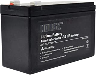 Lithium Flasher Battery for Vexilar FL & FLX Series | Rechargeable Lithium ion - 12V 7.5Ah | Only 1.3 pounds | Featherlight by Norsk