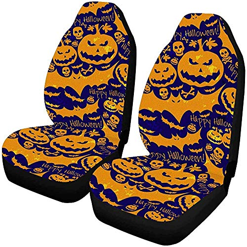 Set van 2 auto stoelhoezen patroon koe witte vlek melk abstract dier chocolade universele auto voorstoelen beschermer 14-17IN