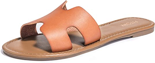 FITORY Womens Flat Sandals Slides Open Toe Slip On Shoes for Summer