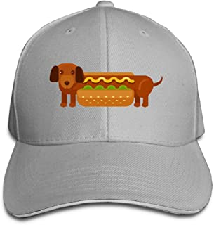 Creative Hamburger Hot Dog Fashion Design Unisex Cotton Sandwich Peaked Cap Adjustable Baseball Caps Hats