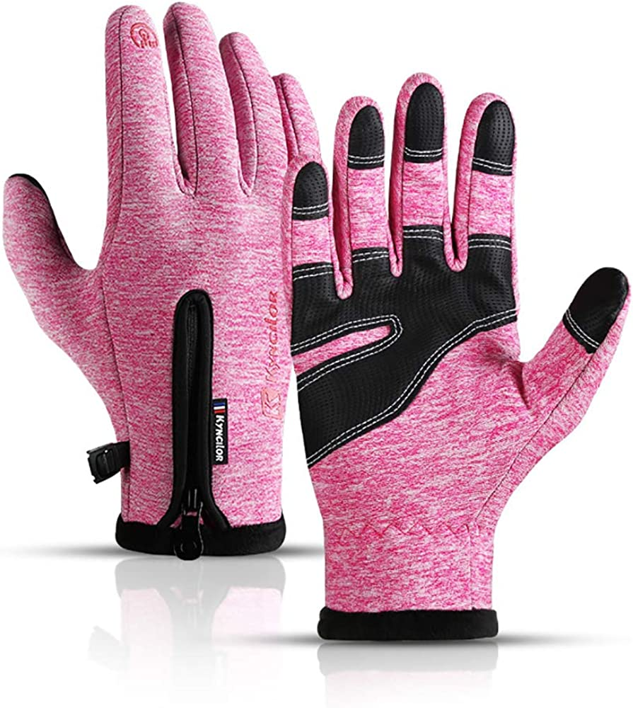 Winter Warm Gloves, Thermal Black Warm Gloves for Men Women Waterproof Touchscreen Non-Slip Gloves for Driving, Cycling