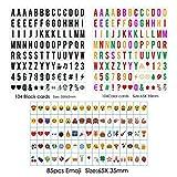 Lettres nombres symboles et emojis Signe du cinéma pour A4 Lightbox Spécial FestivalDécoration 104 Noir, 104 Coloré Lettres, nombres, 85 emoji Signe Par Freeas