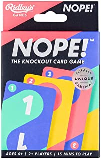 Ridley's Nope! Knockout Family Action Card Strategy Game, Ages 6+, 2+ Players