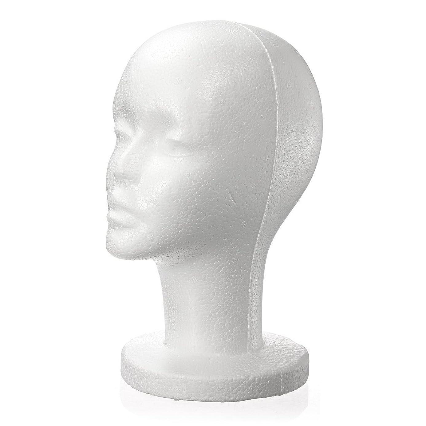 Mannequins - Nocm Fashion Female White Foam Styrofoam Mannequin Hat Cap Dummy Wig Head Display Holder Model - Full Lifesize Stand Upper Child Head Face Life Body Model Size Wigs Foam Hair D