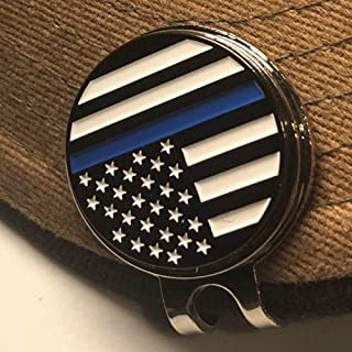 PakedDeals Thin Blue Line Magnetic Golf Hat Clip Ball Marker