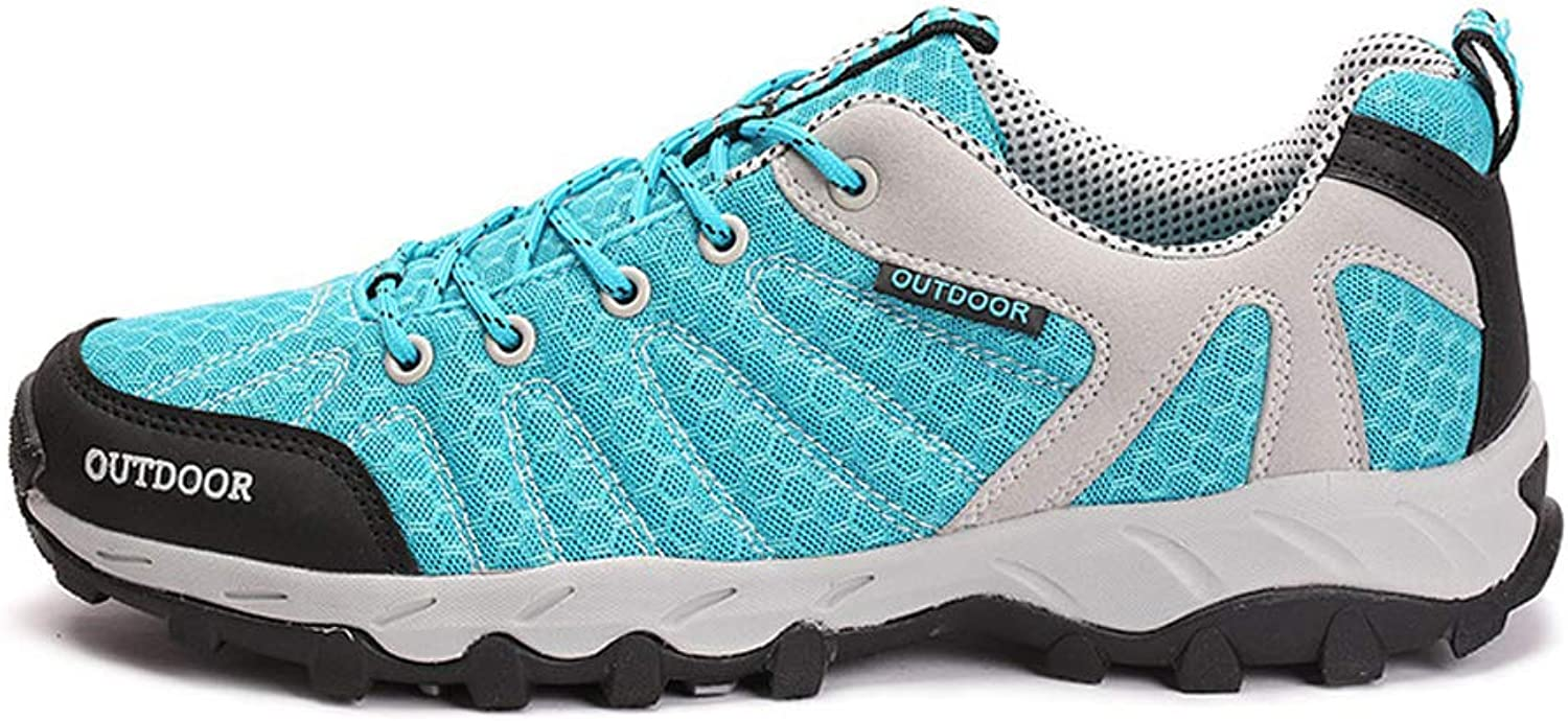 Sneakers Hiking Outdoor Sports shoes Travel Slip wear-Resistant Breathable Running Walking shoes-bluee-38