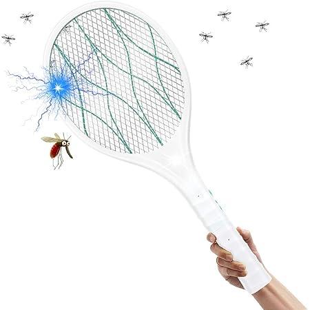 EXTSUD Raquette Anti-moustiques Électrique Pliable Rechargeable USB 3800V Tapette à Mouches et Autres Insectes Volants avec Éclairage LED 4 Couches de Protection en Maille