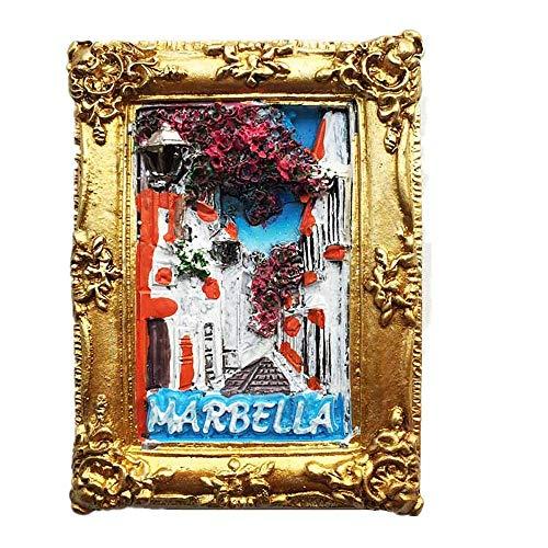 Marbella Spanien 3D-Kühlschrankmagnet, Heim- und Küchendekoration, magnetischer Aufkleber, Marbella Spanien, Kühlschrankmagnet, Reise-Souvenir, Geschenkkollektion