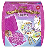 Ravensburger Mandala Designer Mini Unicorn 29704, Zeichnen lernen für Kinder ab 6 Jahren, Kreatives Zeichen-Set mit Mandala-Schablone für farbenfrohe Mandalas
