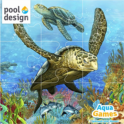 pool-design.eu Poolspiel * Aqua Games * Tauchspiel * Unterwasser * Puzzle * Schildkröte * 30 x 30 cm