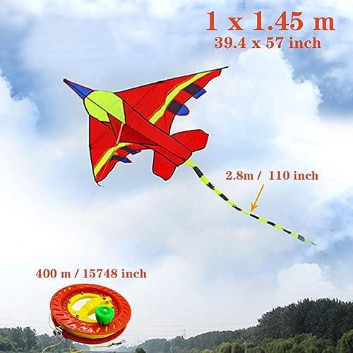 Venta en línea de descuento de fábrica MKite Cometa Forma de avión avión avión Enorme y Colorida Cometa para Niños y Adultos. Fácil Volante y Montaje,D  ventas en línea de venta