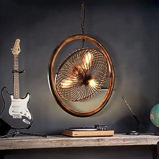 MWPO Lámpara de Techo Vintage Ventilador de Techo para Restaurante Luz de Dormitorio de Estilo Industrial Araña de Ventilador de Personalidad de Hierro Forjado Creativo (Color: A)
