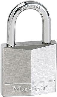 Master Lock 640DAU 40mm Wide Nickel Plated Solid Brass Padlock