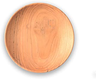 de Bois Dish wood 8 Inch l Organic Teak Dish l Teak Dish l Non Toxic Wooden Kitchen Utensils l Gift For Serving Happiness