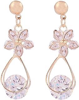 Sansar India Dangler Earrings for Women (Golden) (470)