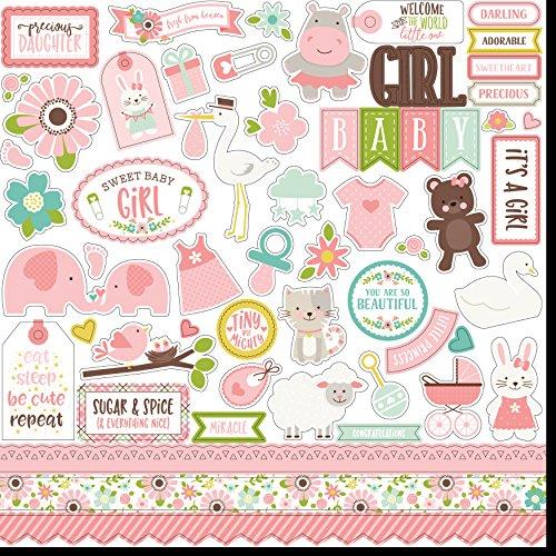 Sweet Baby Girl Cardstock Stickers 12