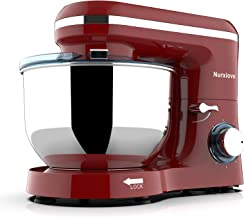 Nurxiovo 7QT Stand Mixer Kitchen Tilt-Head 6-Speed Food MixerElectric Mixer with Stainless Steel Bowl Dough Hook Whisk Beater 850W Red