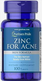 Puritans Pride Zinc for Acne, 100 Count