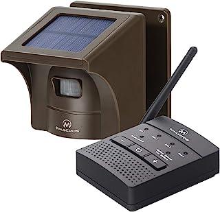 1/4 Mile Solar Driveway Alarm Sytem Wireless Long Range Outdoor Weather Resistant Motion Sensor & Detector- NO DIY Securit...
