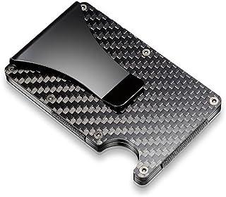 マネークリップメンズ Wraifa カードと紙幣収納可 RFID&磁気スキミング防止 薄型軽量大容量持ち運び便利 カードケース男性 プレゼント 父の日 プレゼント