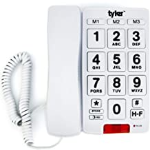 Tyler TBBP-3-WH Big Button Corded Phone with Speakerphone for Seniors and Ease of Use photo