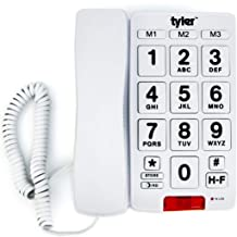 Tyler TBBP-3-WH Big Button Corded Phone with Speakerphone for Seniors and Ease of Use