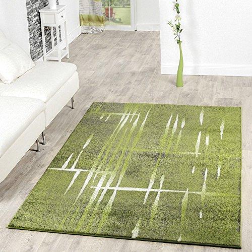 Moderna alfombra de pelo corto con diseño de Matrix en verde, gris...