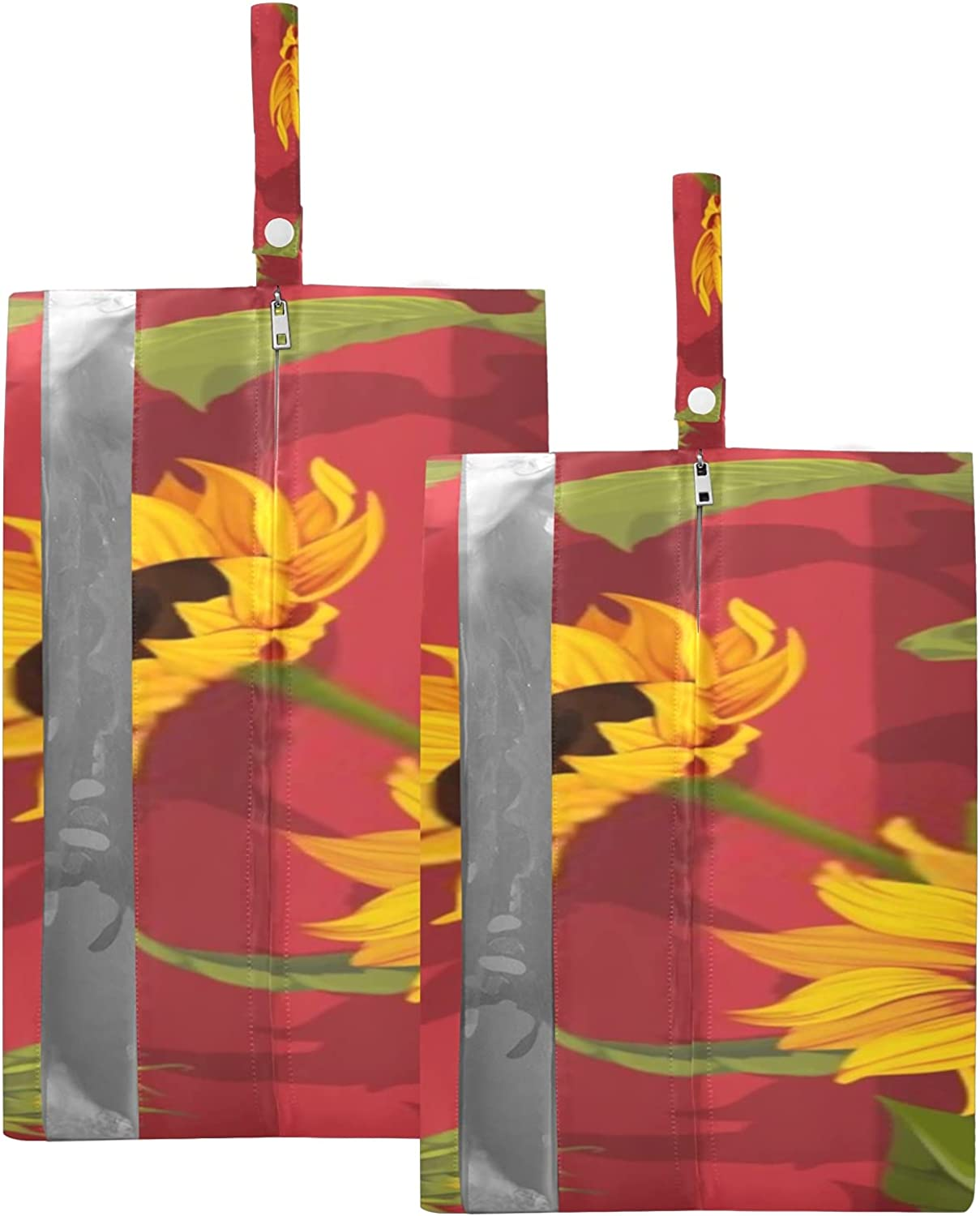 Waterproof Travel Shoe Bag Pack Floral Max 78% OFF Zipper Sunflower Fashion Sto