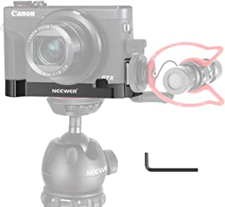 Neewer G7X Mark III Camera Base Mount Bracket Compatible with Canon G7X Mark II&III Cameras, with Microphone/Light Cold Sh...