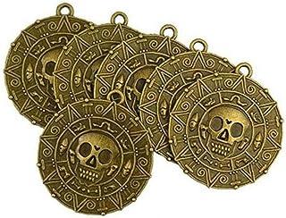 Cráneo Ronda de la Vendimia del Pirata de la Moneda clavícula Cadena 6pcs Unisex del Collar de aleación de Zinc