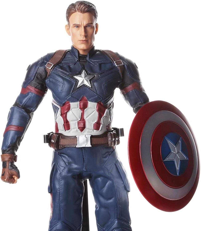 nueva gama alta exclusiva Wen Zhe Versión Versión Versión en película de la colección de muñecas realistas exquisitas Hechas a Mano del capitán Estadounidense Avengers, Grande 28 cm Modelo de Juego  barato